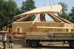 Das Dach wird gedeckt - Juni 2008