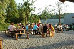Die Biberburg hat zum ersten Mal offiziell geöffnet - 18. Juni 2009