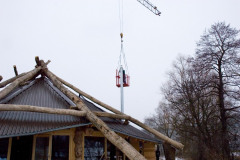 Kamin und Solaranlage - Februar/März 2009