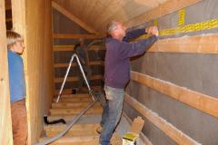 Wand-und Bodenisolation wird eingeblasen - September 2008